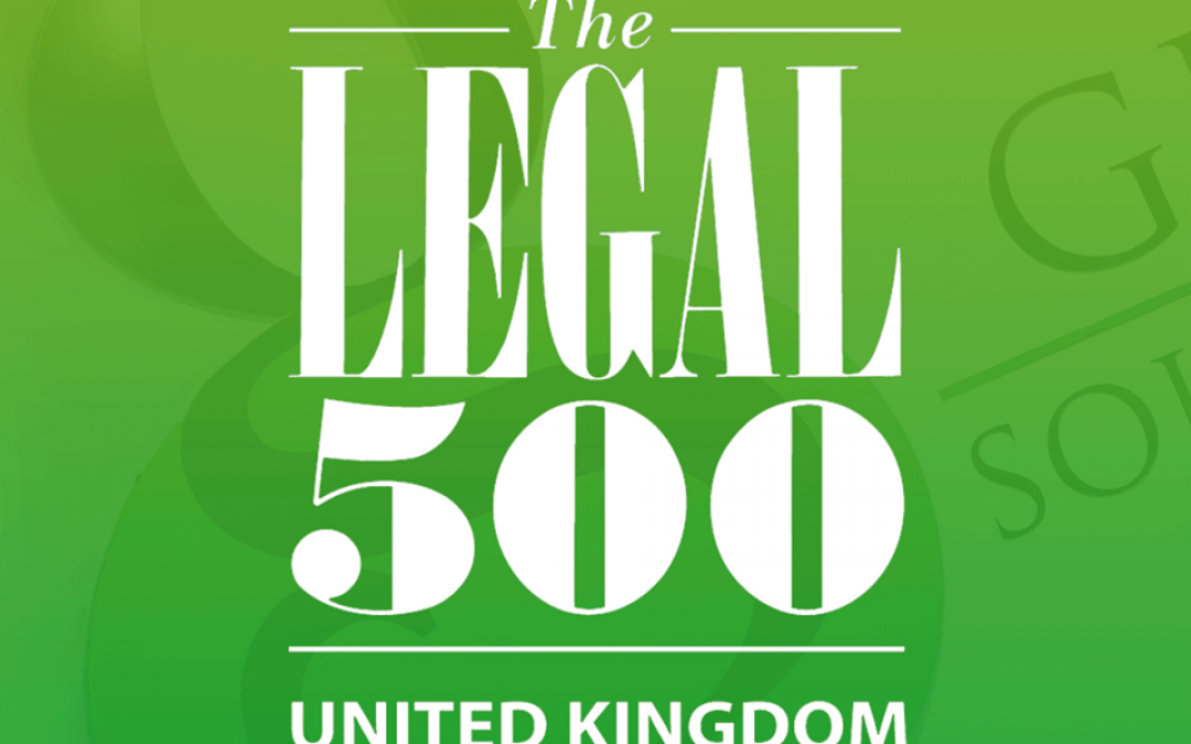 Greens singled out by the Legal 500