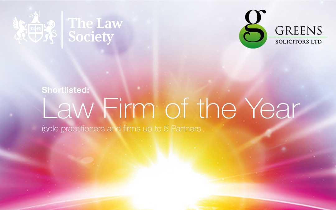 Greens Solicitors shortlisted for 2019 Birmingham Law Society awards: Law Firm of the Year