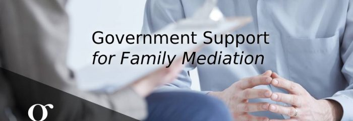 Government Support for Family Mediation